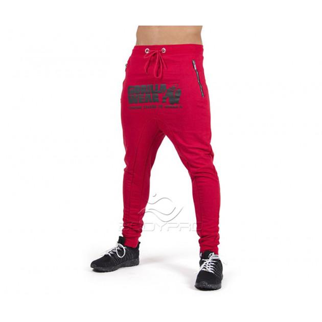 Gorilla Wear Штаны Alabama Drop Crotch Joggers Red