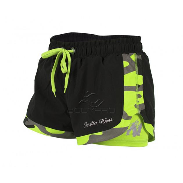 Gorilla Wear Шорты Denver Shorts Black/Neon Lime