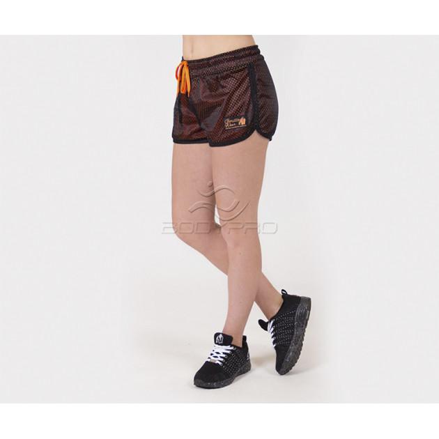Gorilla Wear Шорты Madison Reversible Shorts Black/Neon Oran...