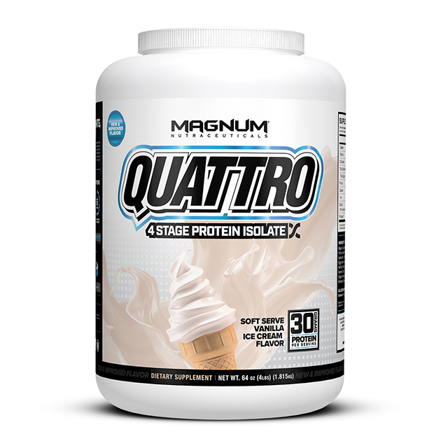 Изолят протеина Magnum Nutraceuticals Quattro 1820 гр Ваниль...