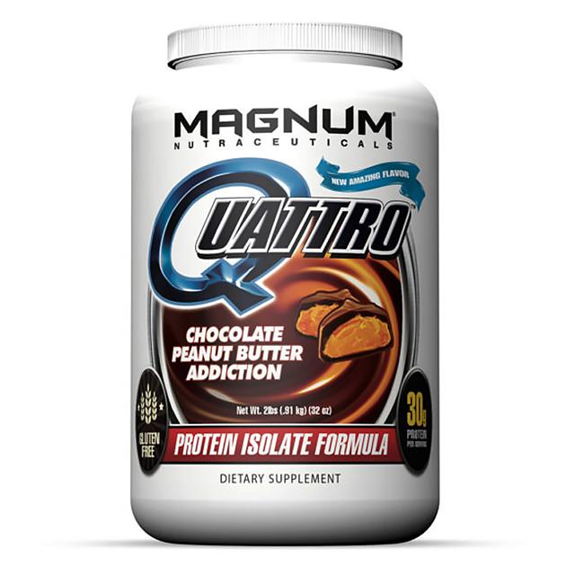 Изолят протеина Magnum Nutraceuticals Quattro 1820 гр Шокола...