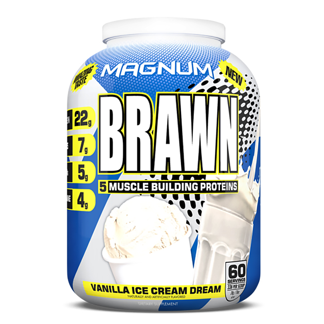Протеин Magnum Nutraceuticals Brawn 2000 г Ванильное морожен...