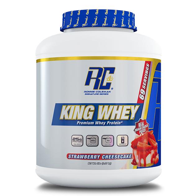 Протеин Ronnie Coleman King Whey 2270 г Клубничный чизкейк
