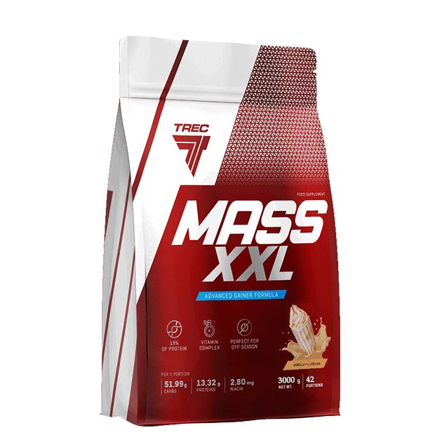 Гейнер Trec Nutrition Mass XXL 3000 г Карамель - Ваниль