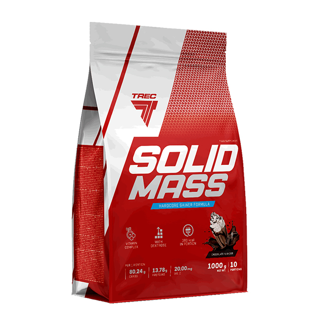 Гейнер Trec Nutrition Solid Mass 1000 г Шоколад