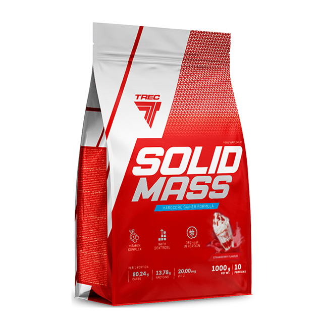 Гейнер Trec Nutrition Solid Mass 1000 г Клубника