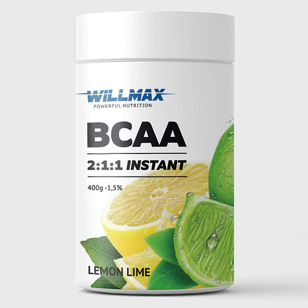 Аминокислоты Willmax BCAA 400 г Лимон-Лайм