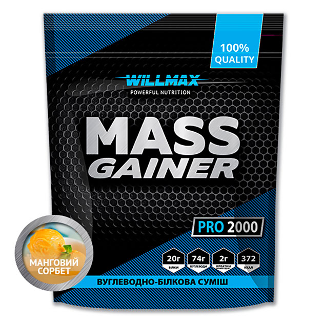 Гейнер Willmax Mass Gainer Pro 2000 г Манговый сорбет