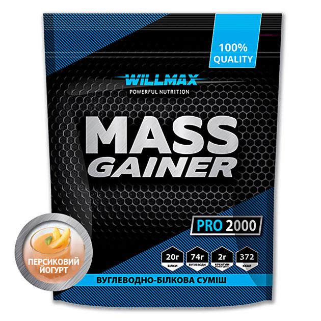 Гейнер Willmax Mass Gainer Pro 2000 г Персиковый Йогурт