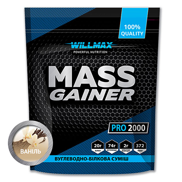 Гейнер Willmax Mass Gainer Pro 2000 г Ваниль