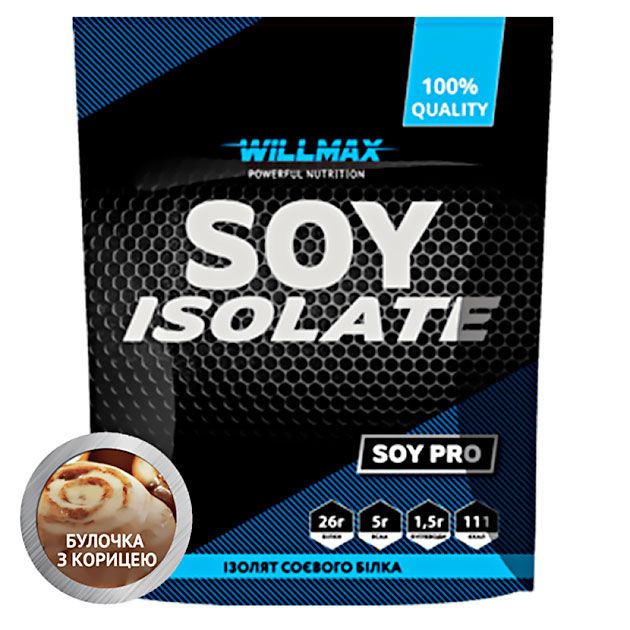 Протеин Willmax Soy Isolate 900 г Булочка с корицей