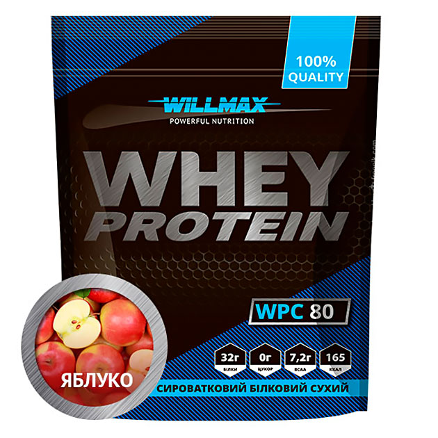 Протеин Willmax Whey Protein 80 920 г Яблуко