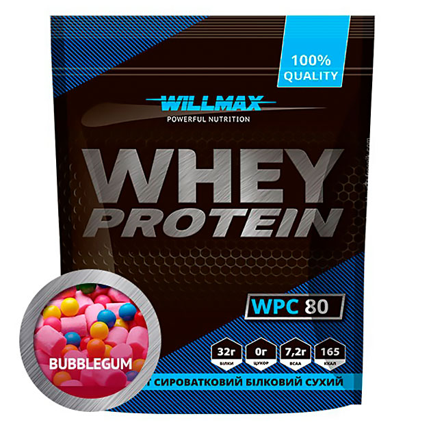 Протеин Willmax Whey Protein 80 920 г Бабл Гам
