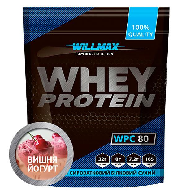 Протеин Willmax Whey Protein 80 920 г Йогурт - Вишня