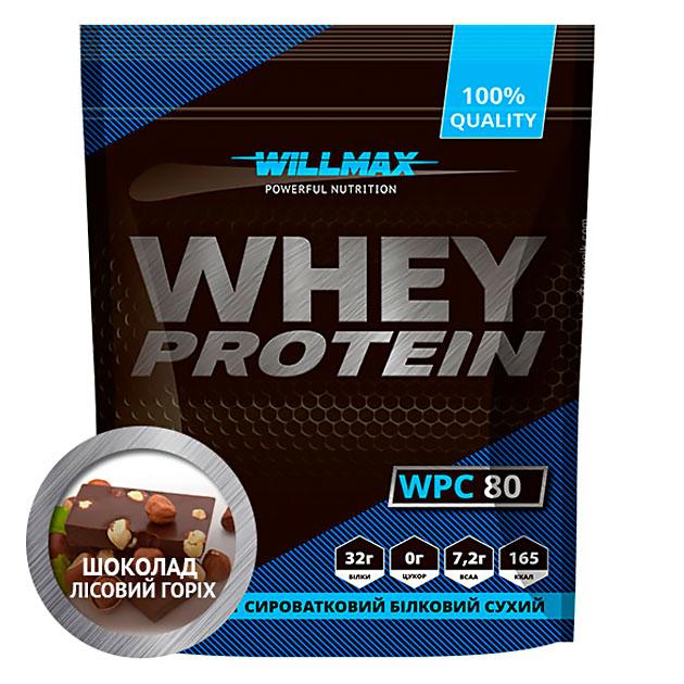 Протеин Willmax Whey Protein 80 900 г Шоколад - Лесной орех