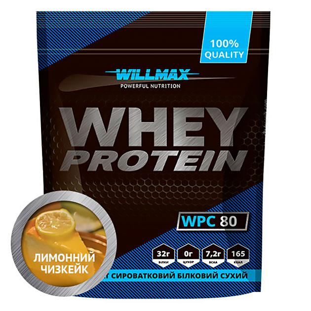 Протеин Willmax Whey Protein 80 920 г Лимонный чизкейк