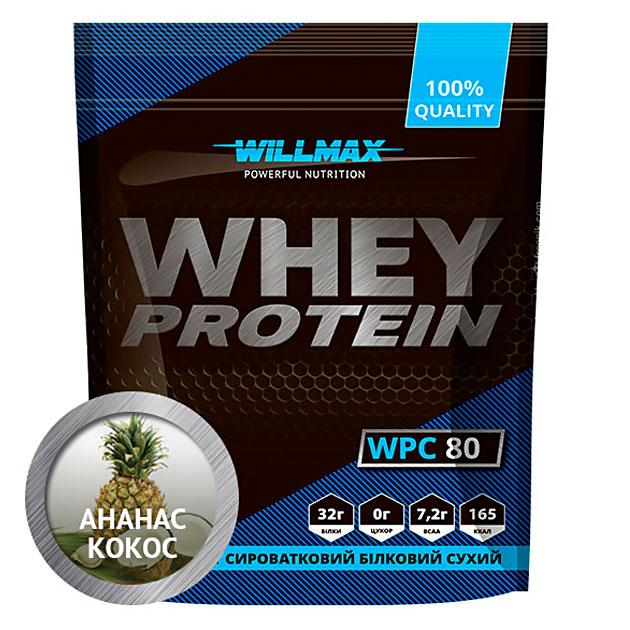 Протеин Willmax Whey Protein 80 920 г Ананас-Кокос