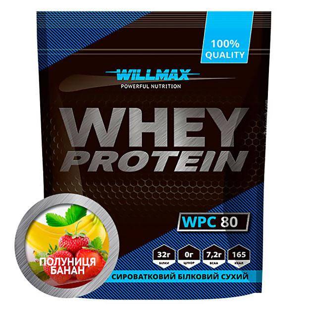 Протеин Willmax Whey Protein 80 920 г Клубника - Банан