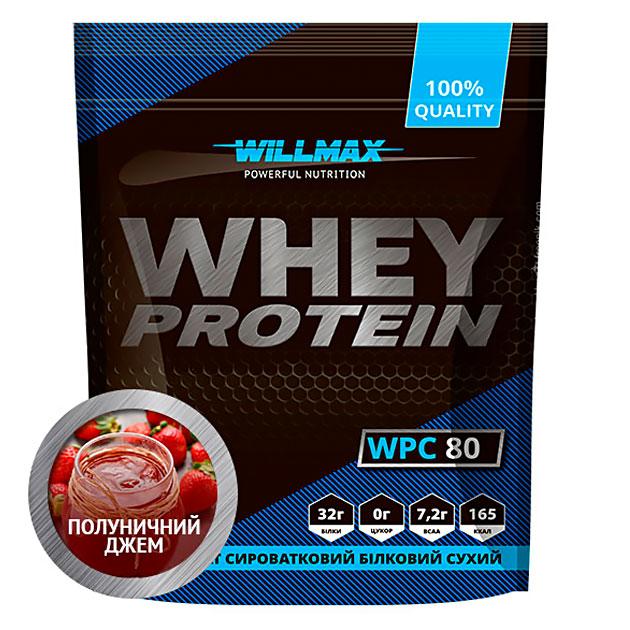 Протеин Willmax Whey Protein 80 920 г Клубничный джем